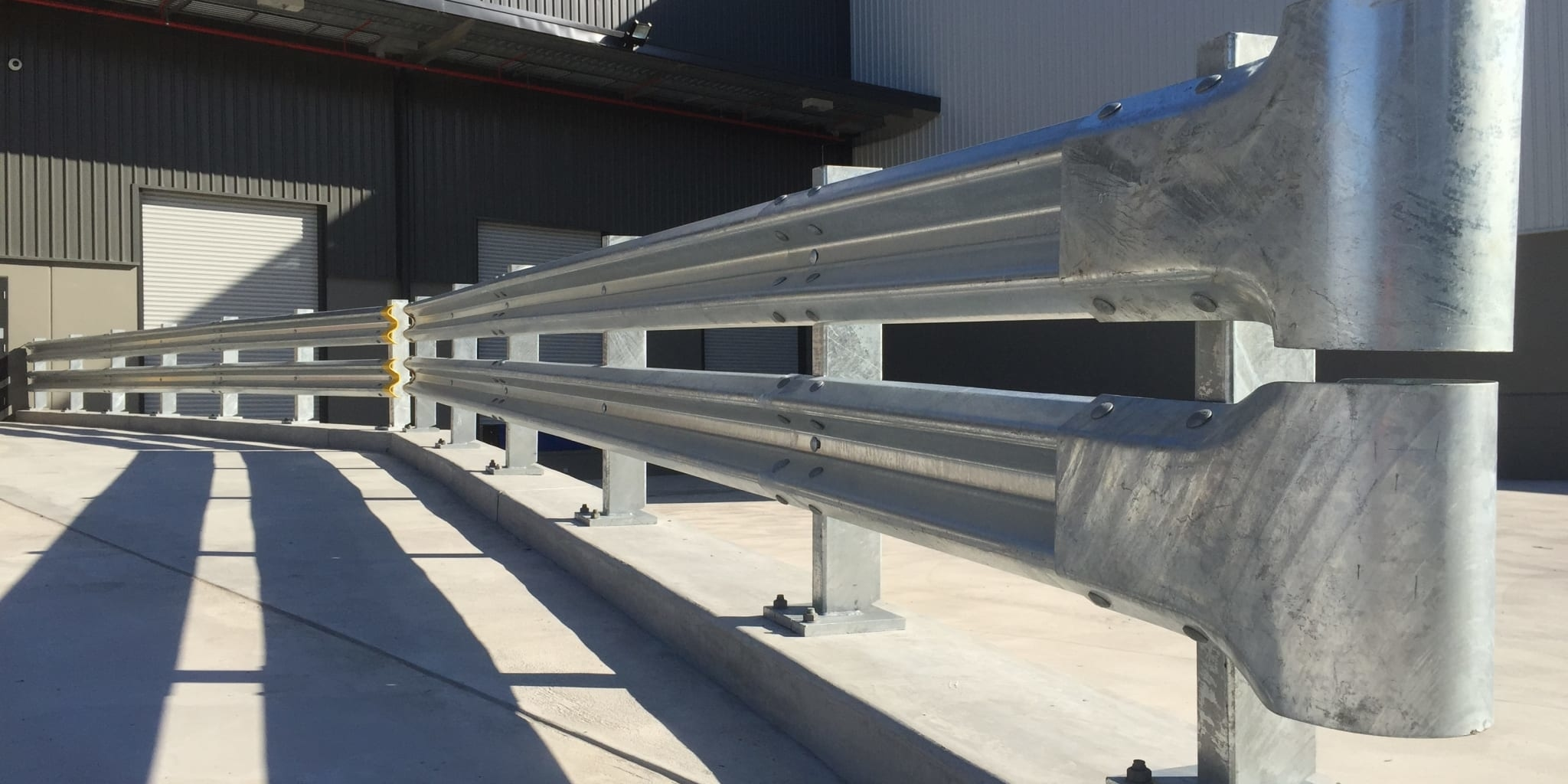 rhino stop truck guard the ideal forklift guardrail solution