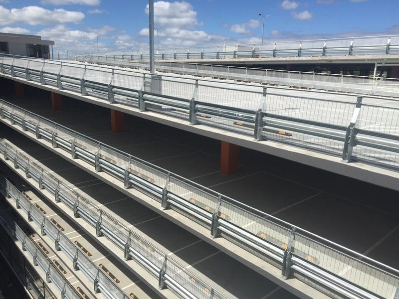 coles tooronga car park safety barrier project