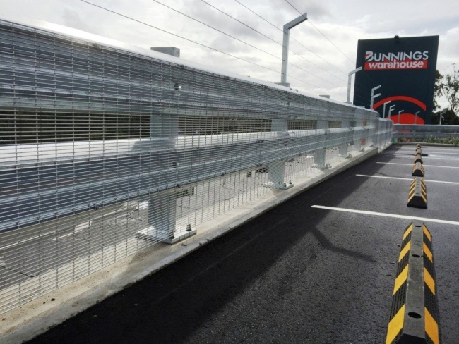 rhino stop truck guard safety barrier project in bunnings warehouse