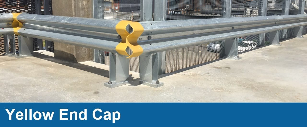 yellow end cap car park barriers accessory