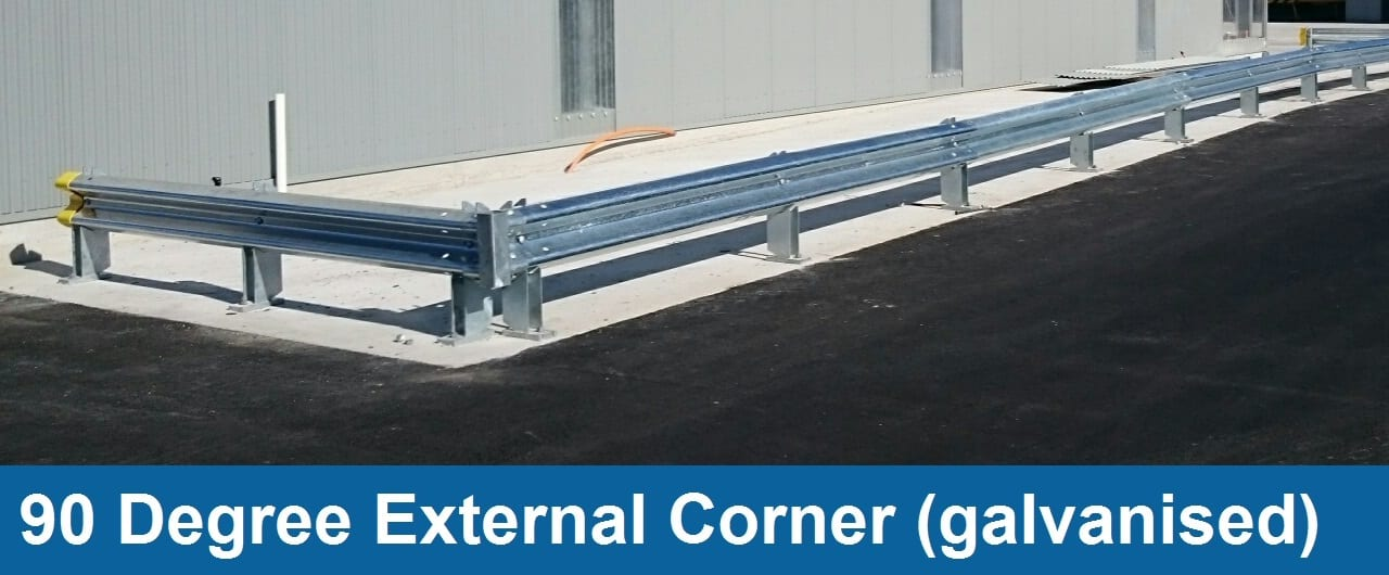 90 degree external corner safety barriers accessory