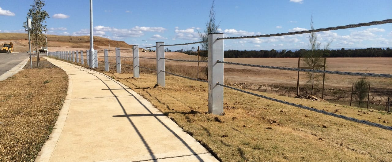triple steel cable boundary fence