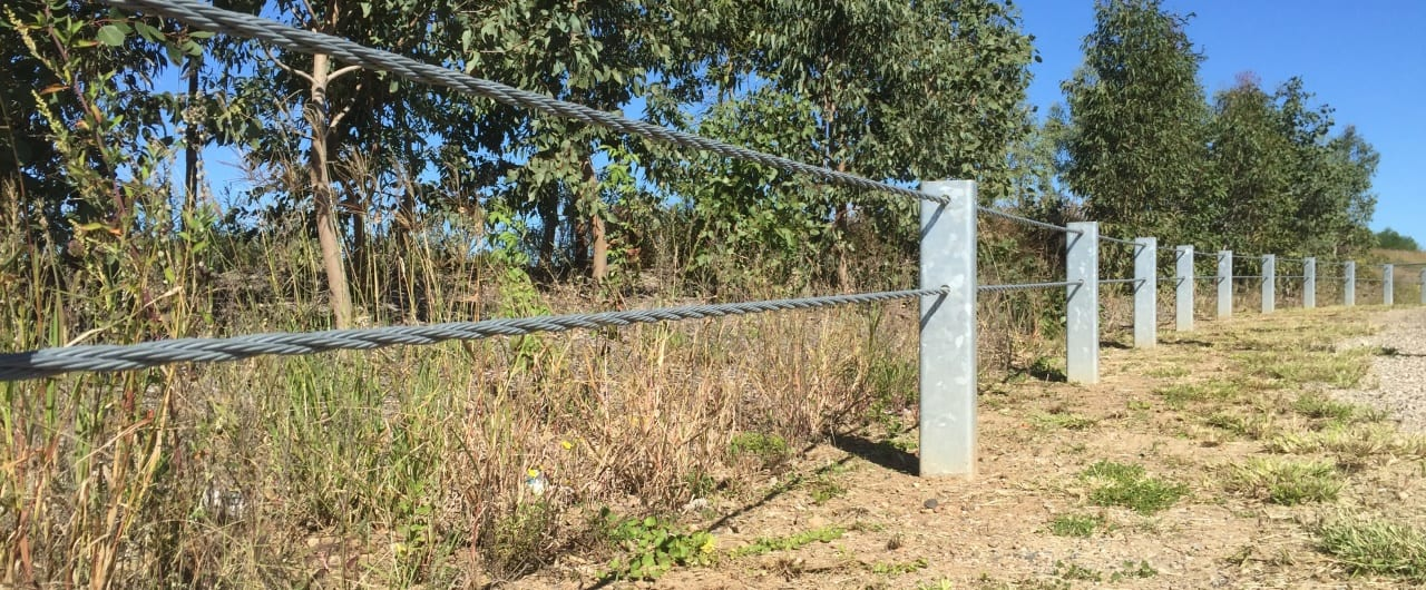 double steel cable boundary fence