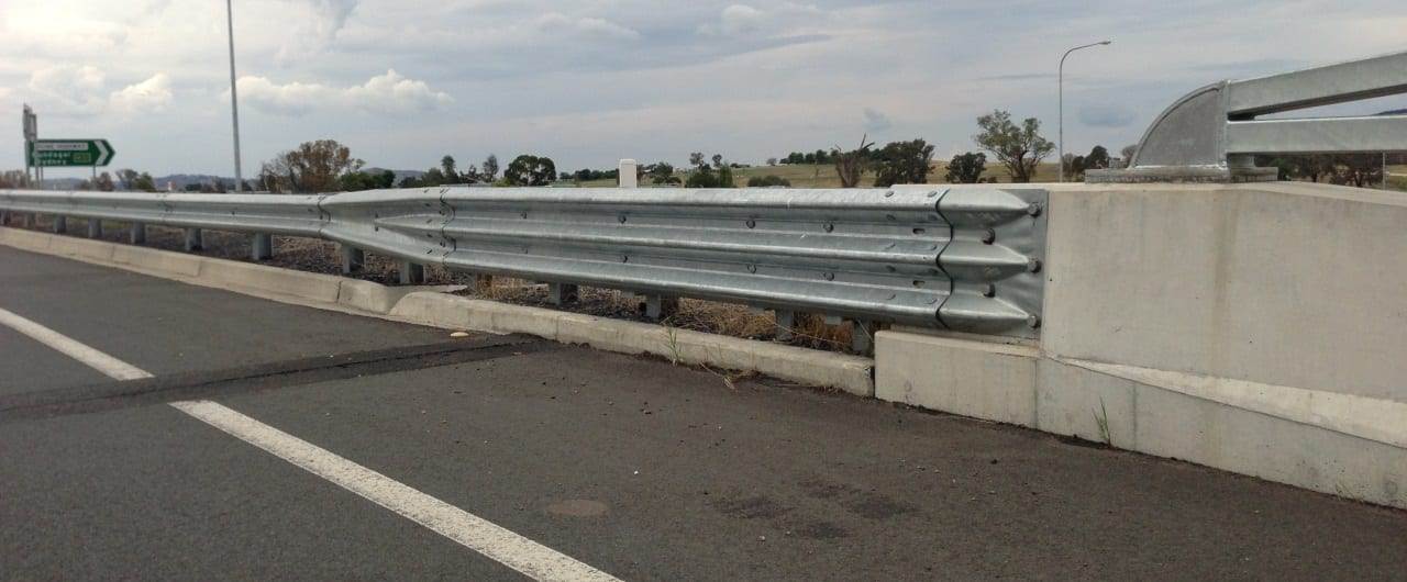 bridge approaches crash barriers