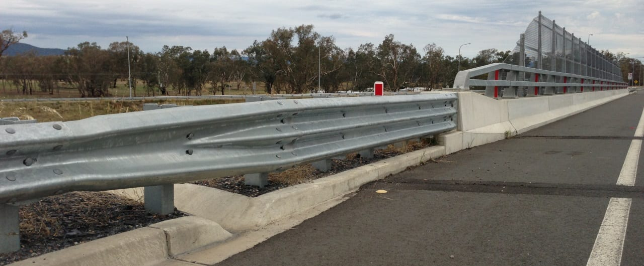 bridge approaches road barrier