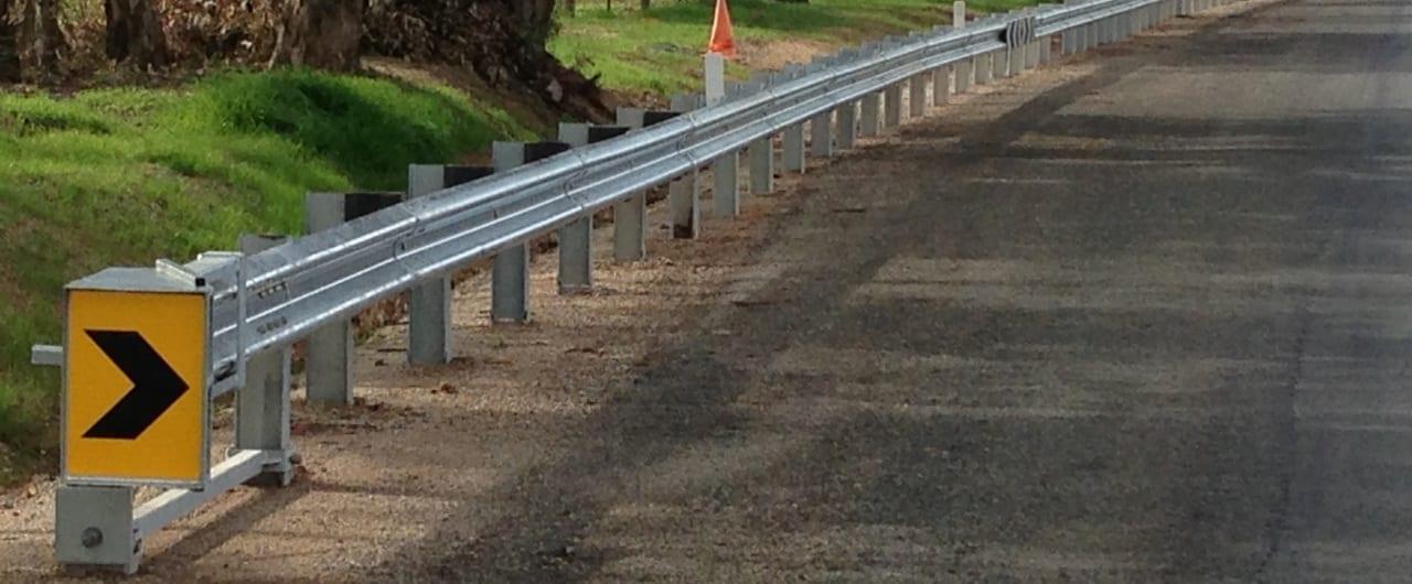 fleat end terminal guardrail installations