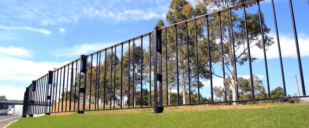 in ground pedestrain fencing