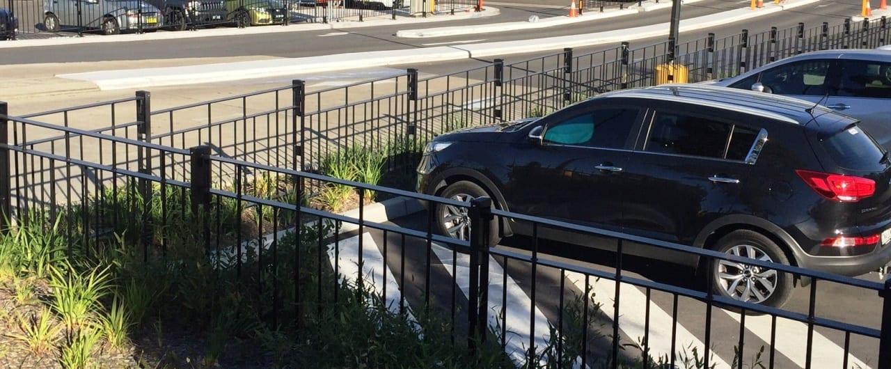 car park pedestrian rms fencing