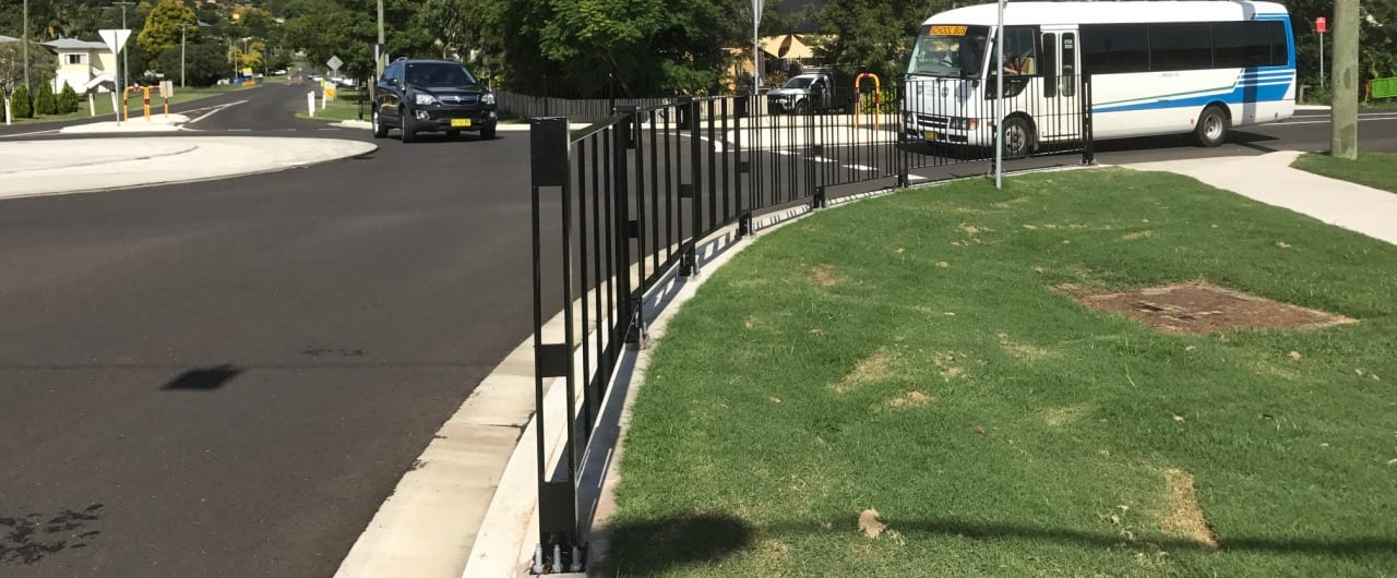 pedestrian fencing safety barriers