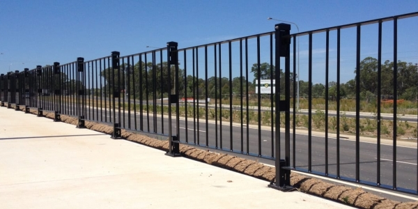 pedestrian walkway safety fencing