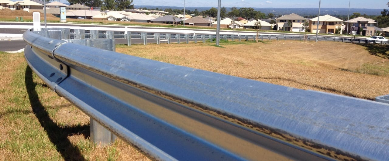 w beam guardrail road crash barrier