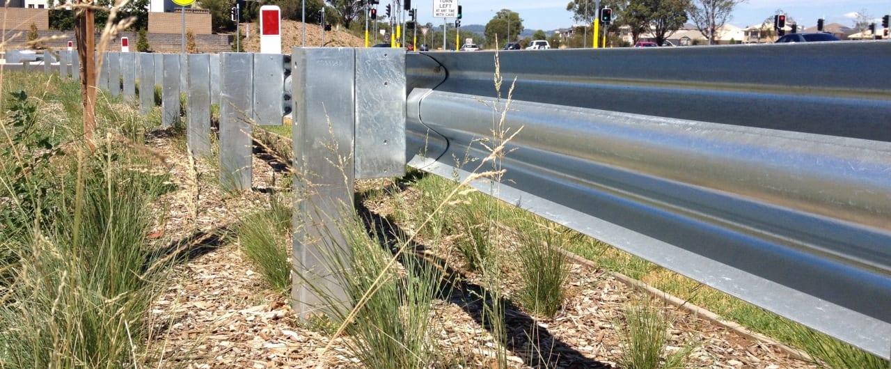 public domain w beam traffic barrier