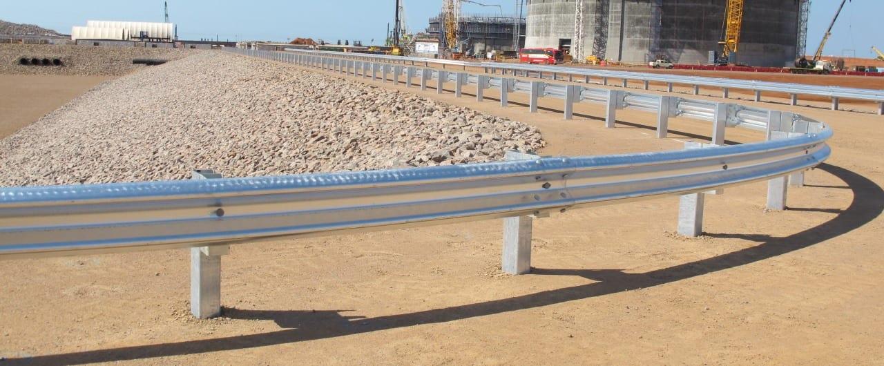 w beam guard rail road barrier