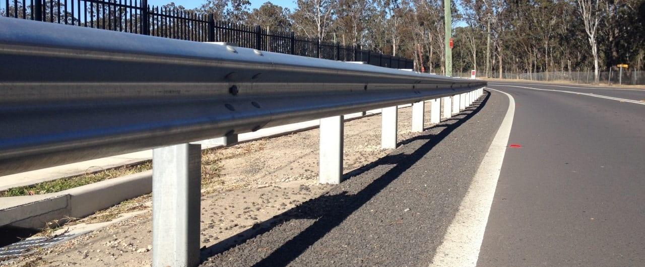 public domain w beam guard rail road barrier