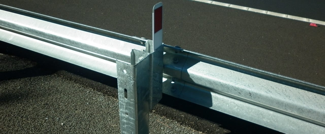 public domain w beam road crash barrier