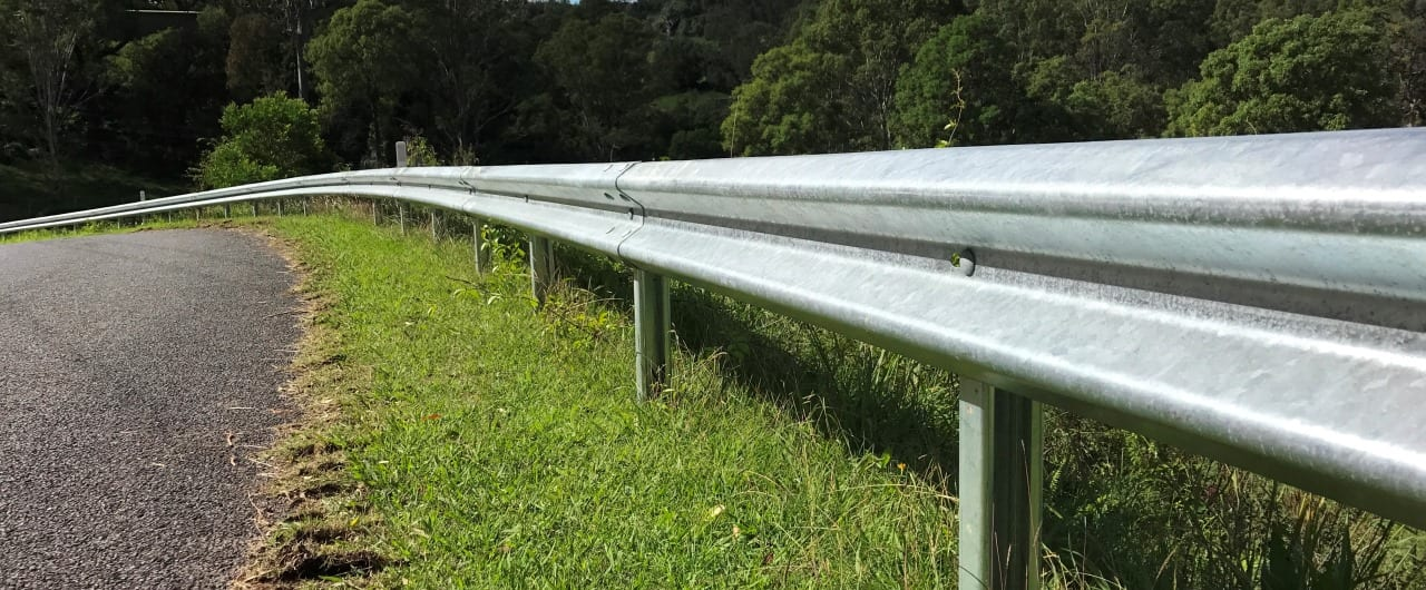 ramshield guardrail for mountain slope road protection