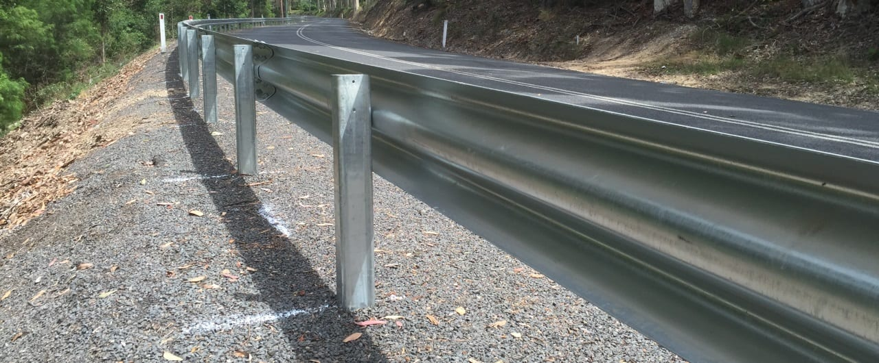 ramshield guard rail road crash barrier