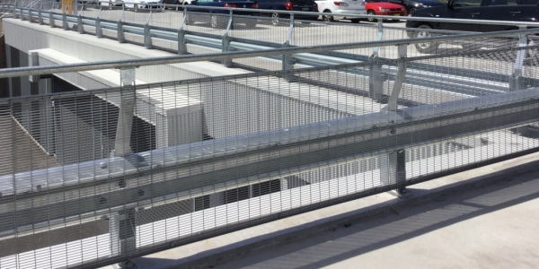 rhino stop car park top floor fall protection barrier