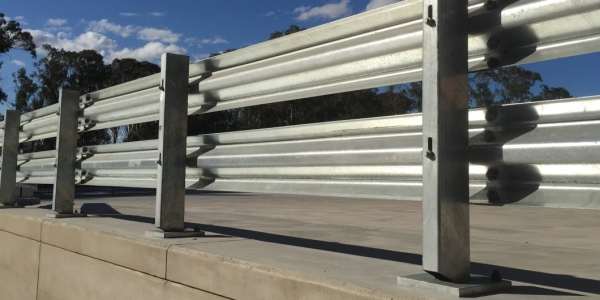 rhino stop truck guard perimeter edge warehouse barriers