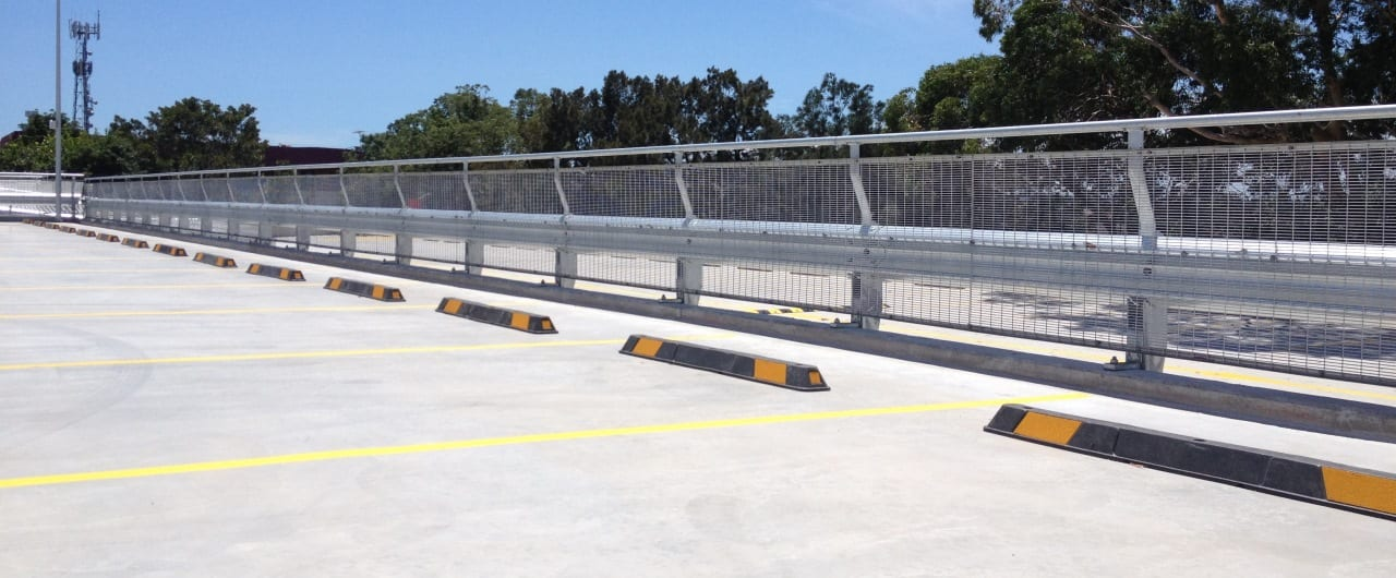 rhino stop sky edge car park fall protection barrier