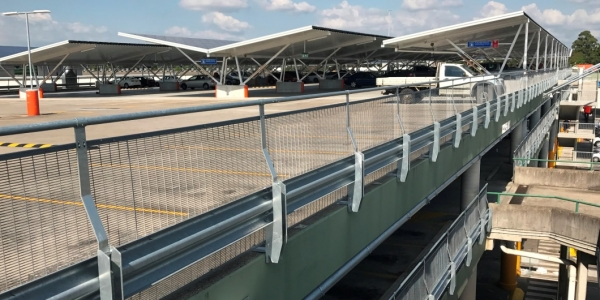 rhino stop sky edge car park barrier system on sydney markets