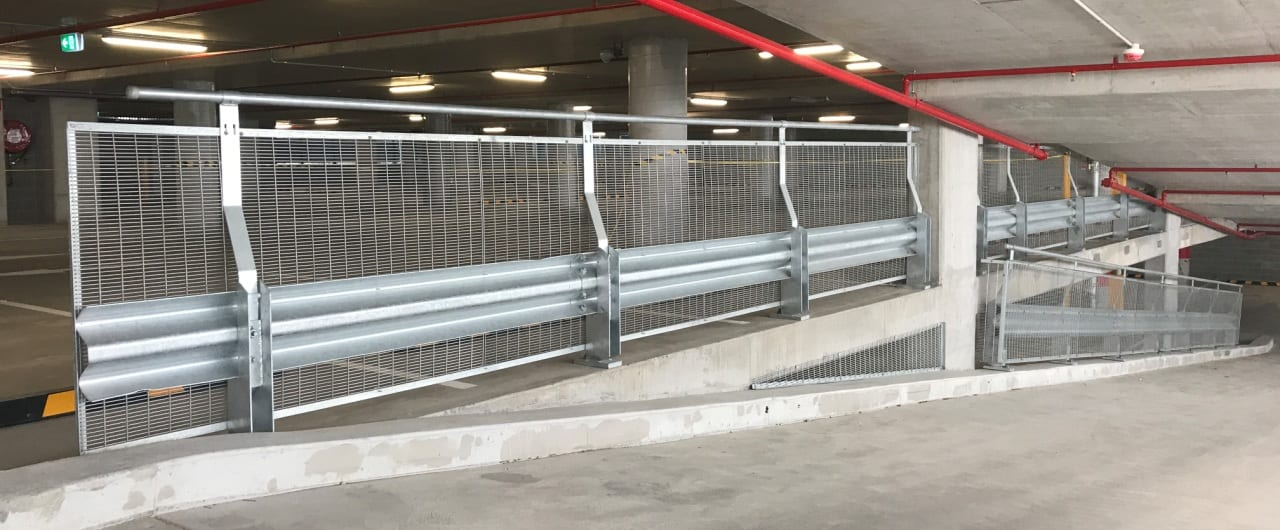 connect corporate centre car park safety barriers project