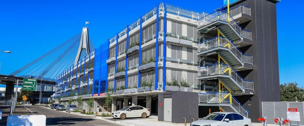 car park safety barrier system project on 4 levels sydney superyacht marina car park