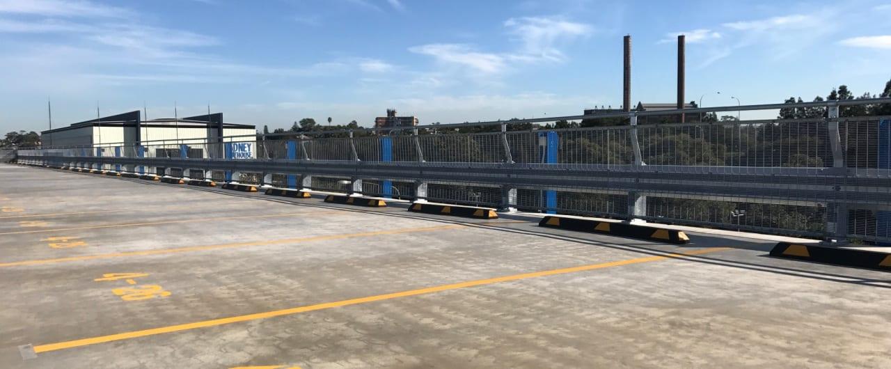 sydney superyacht marina car park safety barrier project