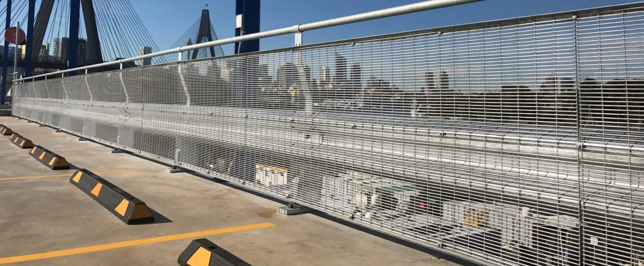 rhino stop vehicle impact safety barrier project at sydney superyacht marina