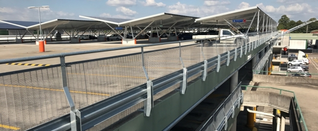 car park safety barrier systems project at sydney market car park