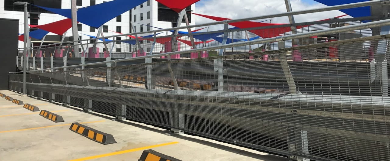 travelodge sydney airport spilt level protection with rhino stop safety barrier
