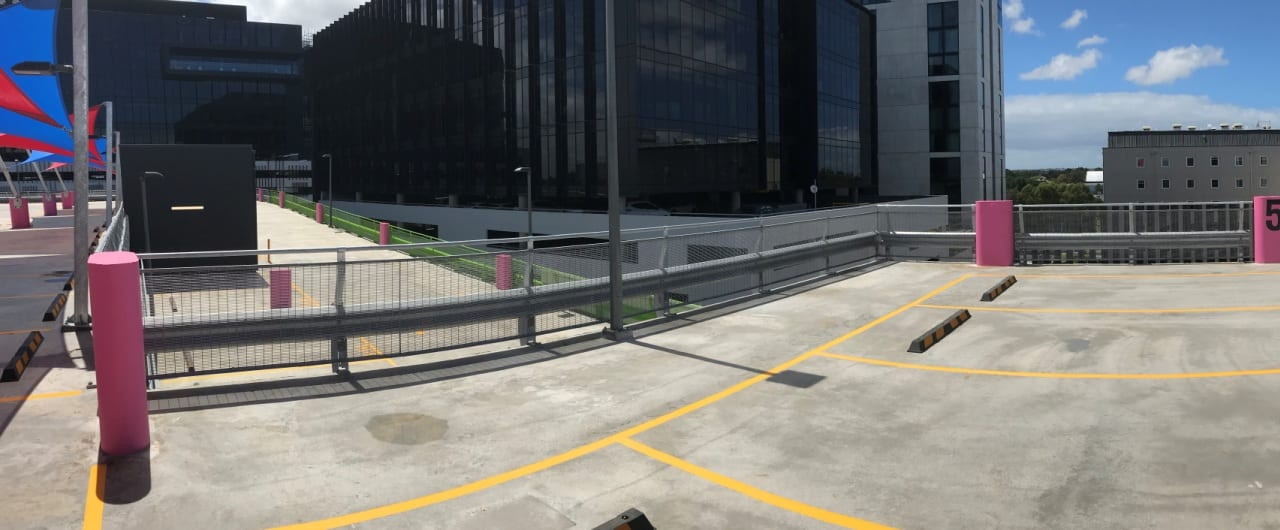 top level view of travelodge sydney airport car park