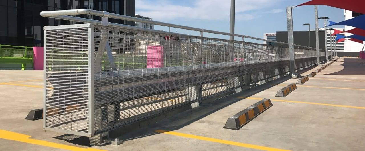 travelodge sydney airport ramp protection with rhino stop safety barrier