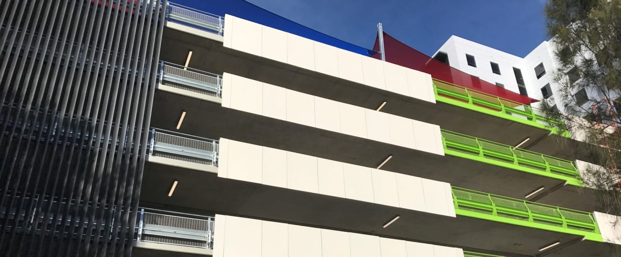 5 level car park barrier project at travelodge sydney airport