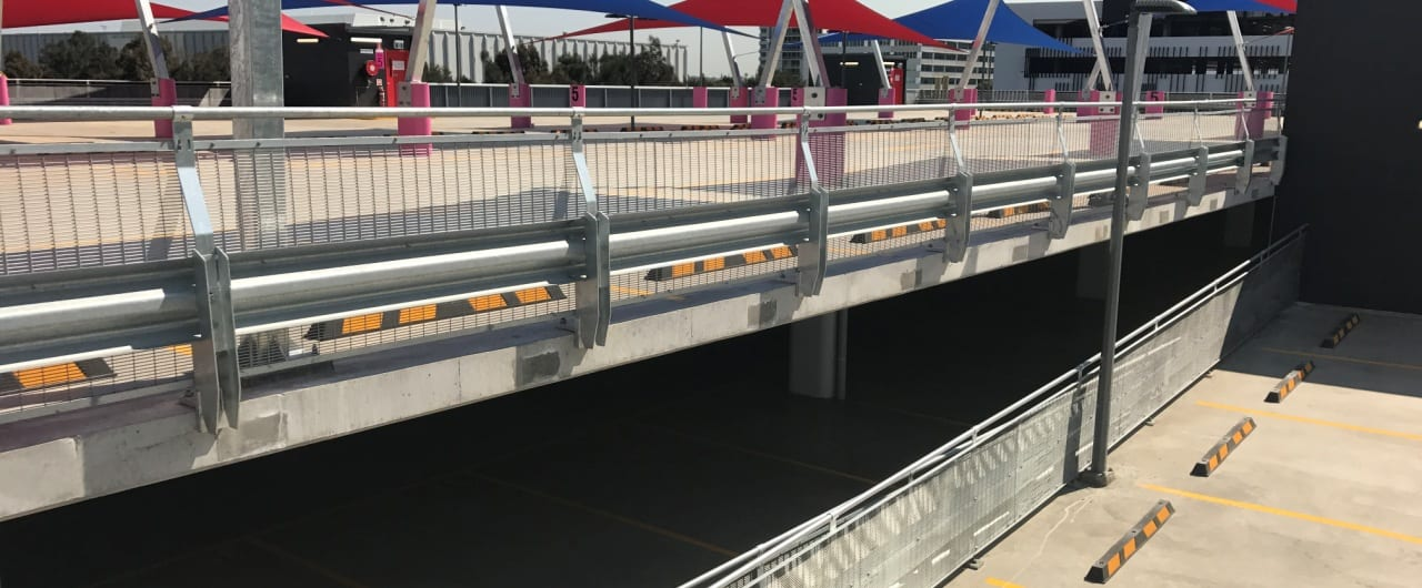 rhino stop safety barrier project at travelodge sydney airport