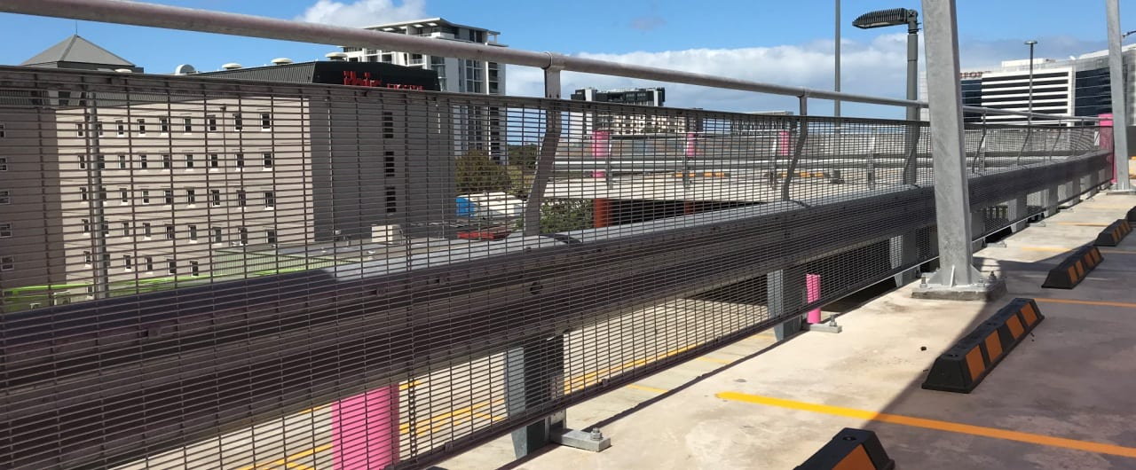 free standing car park barrier on travelodge sydney airport