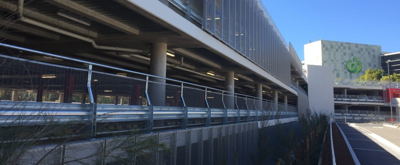 car park barrier system project at woolworths car park