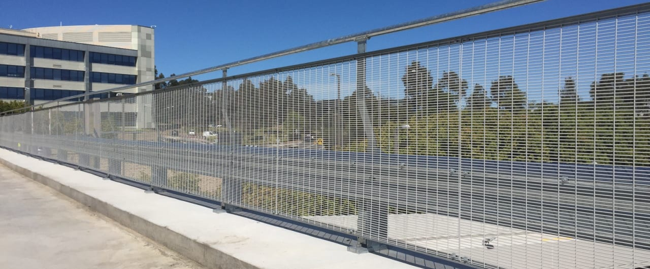 rhino stop car park safety barrier project at woolworths car park