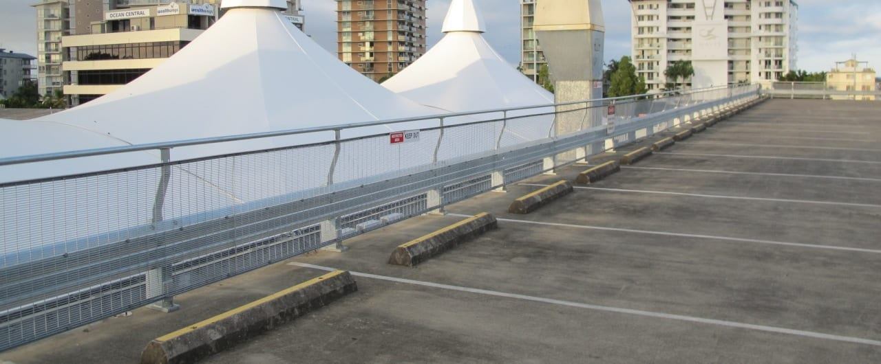 car park safety barrier systems project at big top shopping centre carpark