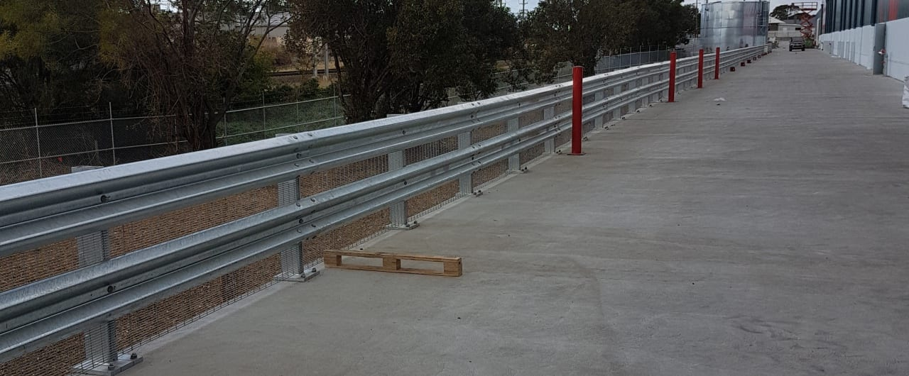 bunnings bellambi access road protection with rhino stop truck guard
