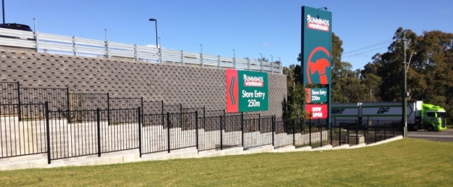 safety barrier systems project at bunnings blacktown