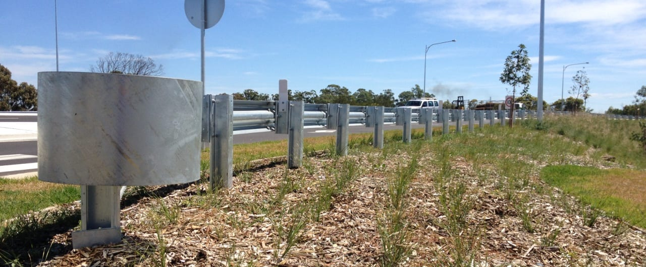 supply of w beam guardrail for camden bypass crossroad project