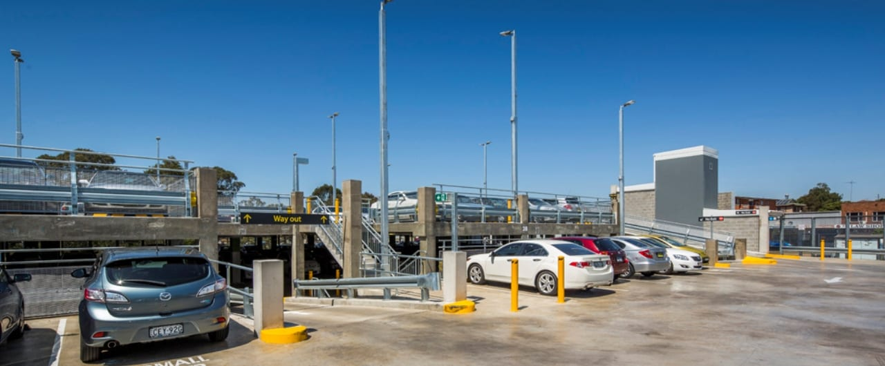 safety barrier systems installed at canley vale commuter carpark