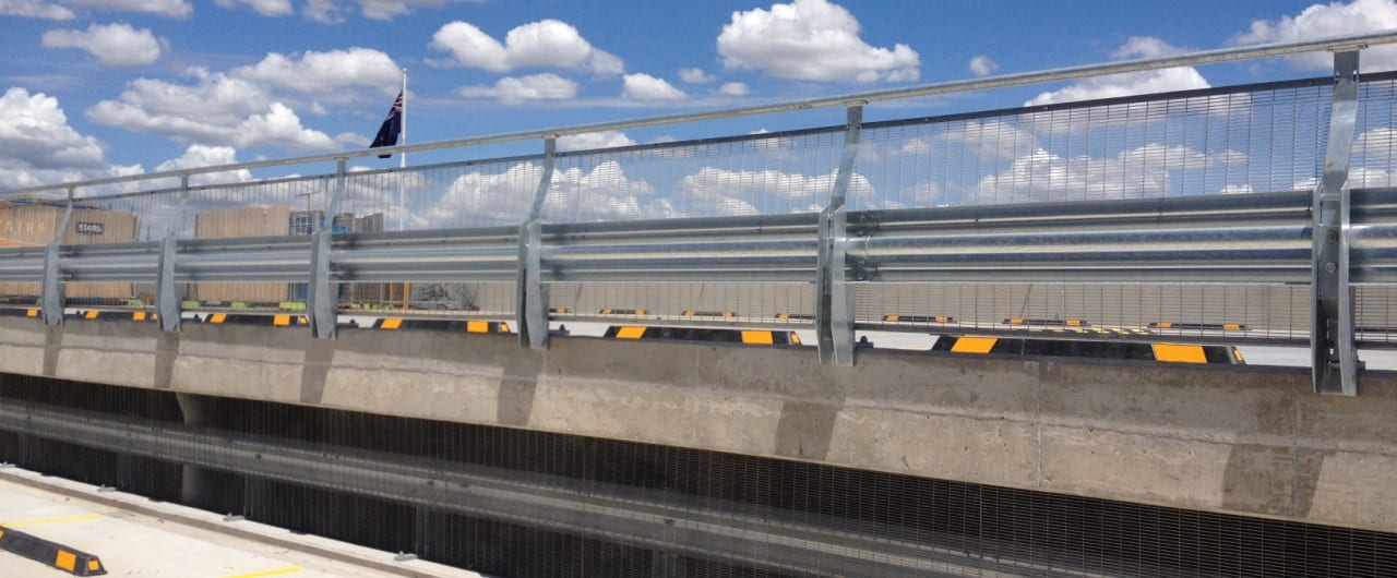 rhino stop sky edge car park safety barrier system at canterbury hurlstone park rsl carpark