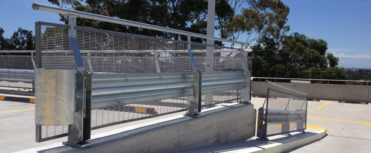 coles toroonga car park ramp protection with rhino stop