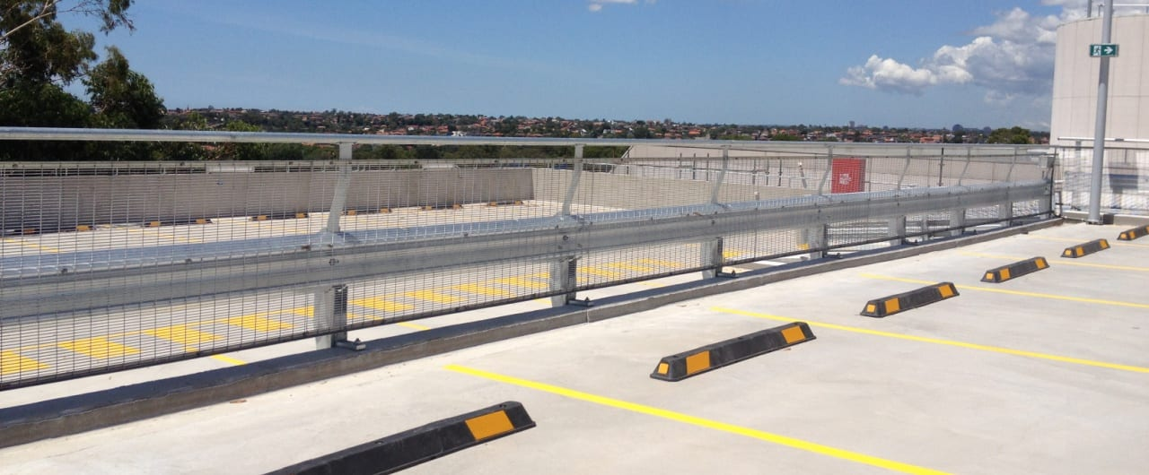 car park safety barrier project at coles toroonga