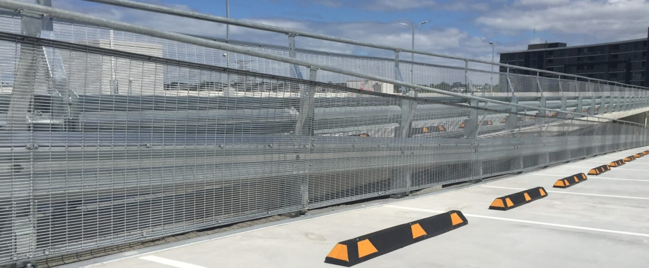 coles tooronga car park split level protection with rhino stop