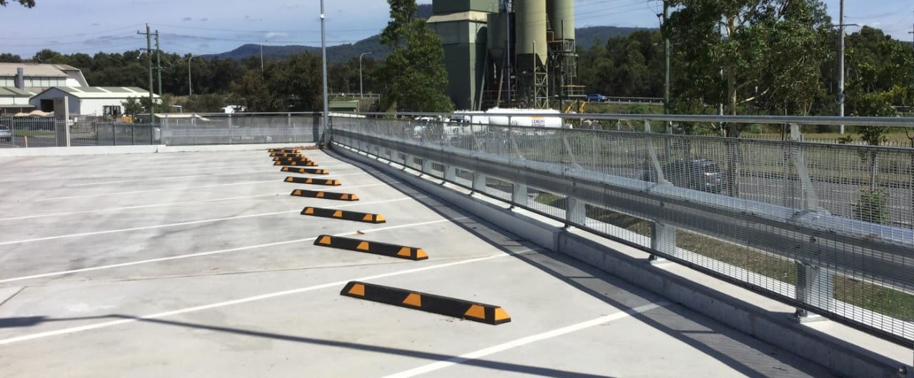 300m rhino stop safety barrier installation at endeavour energy carpark