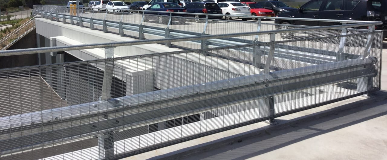 rhino stop pedestrian fall protection installation at endeavour energy carpark