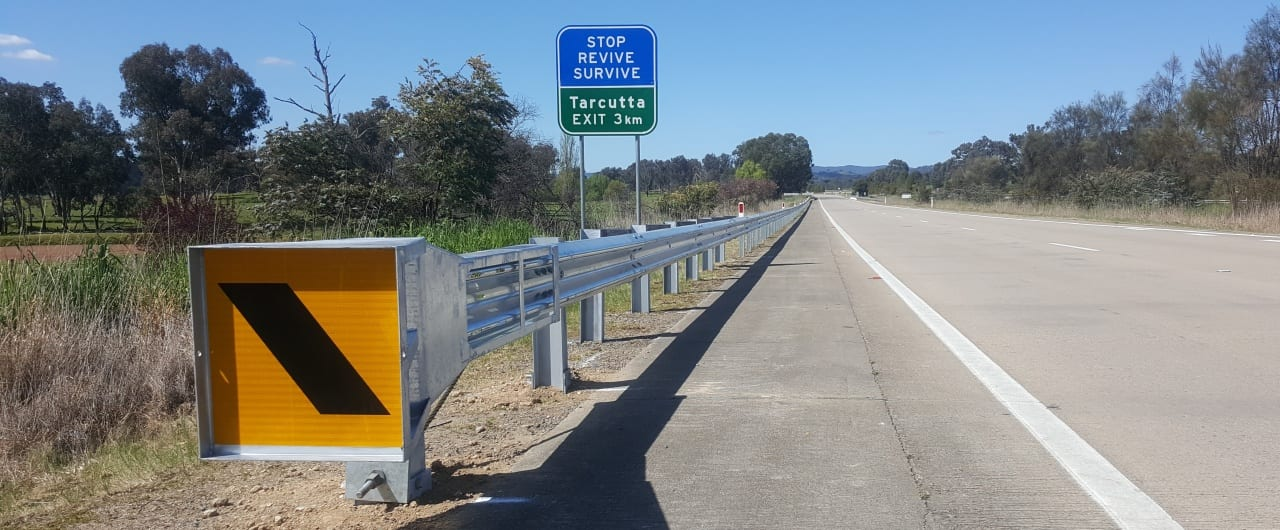 hume highway road safety with ramshield guardrail